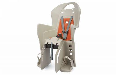 Porte-bébé arrière Polisport Koolah CFS sur porte-bagages Crème/Orange