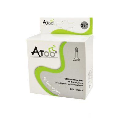 Chambre à air ATOO 29 x 2.10/2.40 Schrader 40 mm Avec liquide anti-crevaison