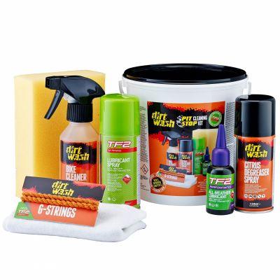 Kit nettoyant et lubrifiant Weldtite TF2 et Dirtwash Pit Stop Bucket