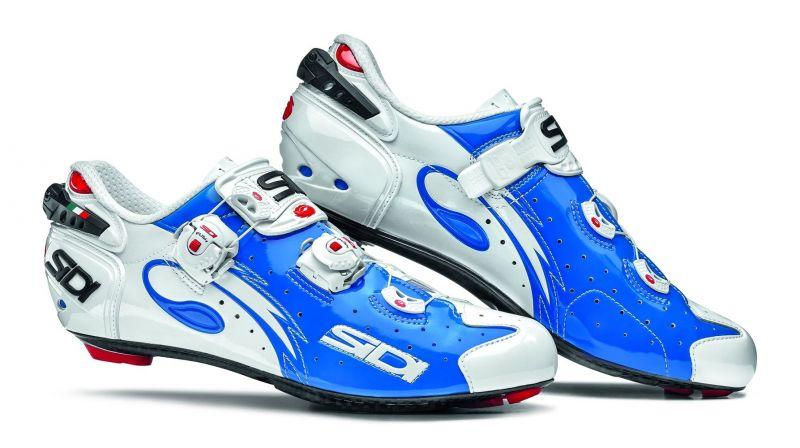 Chaussures Sidi WIRE Carbon Vernice Bleu/Blanc verni
