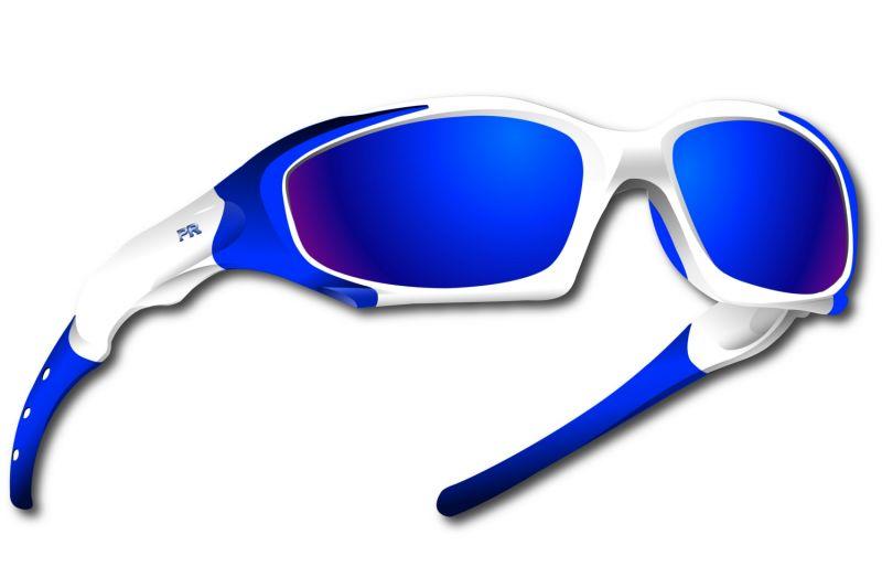 Lunettes Power Race Maverick hydrophobes Blanc/Bleu