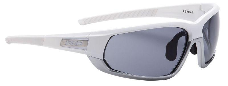 Lunettes BBB Adapt Fullframe verres fumés Blanc/Chrome - BSG-45