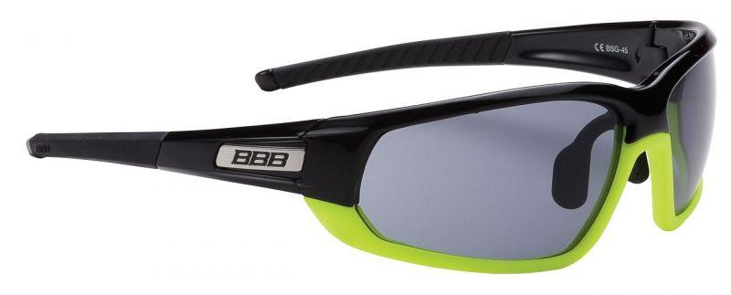 Lunettes BBB Adapt Fullframe verres fumés Noir/Jaune fluo - BSG-45