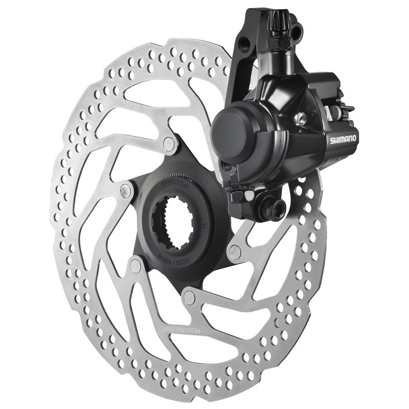 Étrier de frein à disque mécanique Shimano BR-M375 PM avant ou arrière Noir - 1