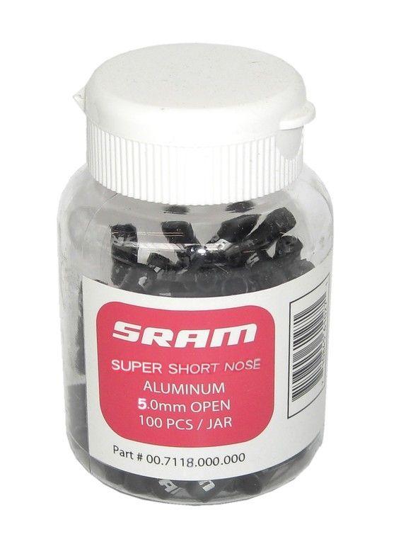 Butée de gaine de dérailleur SRAM 4 mm Super-Short Nose Noir (x100)