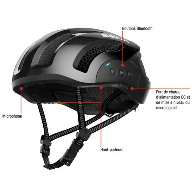 Casque vélo Sena X1 In-Mold Connection Bluetooth 4.1 Avec kit main-libre Blanc - 6