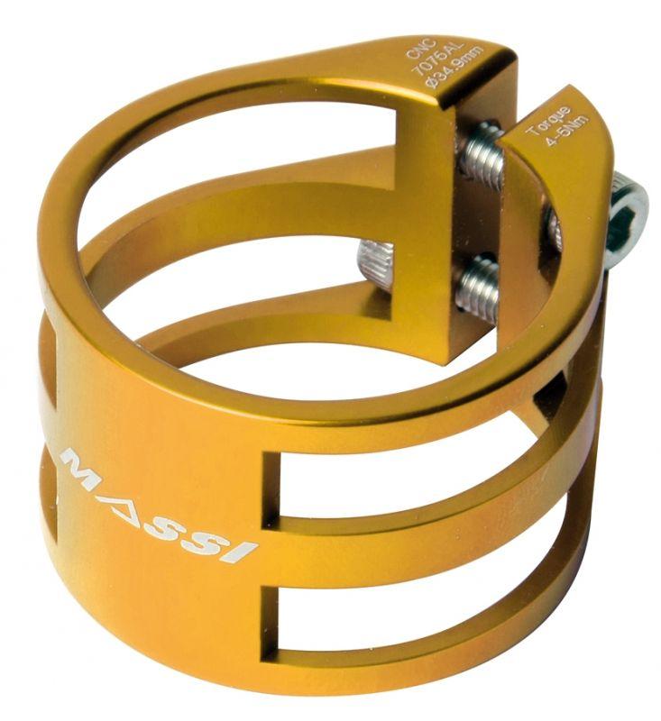 Collier de tige de selle Massi Double 34,9 mm Or