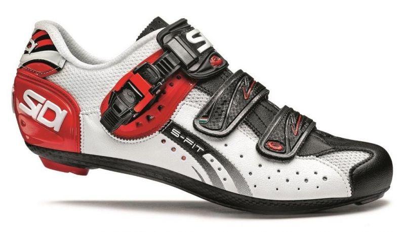 Chaussures Sidi GENIUS 5-FIT Carbon blanc/noir/rouge mat