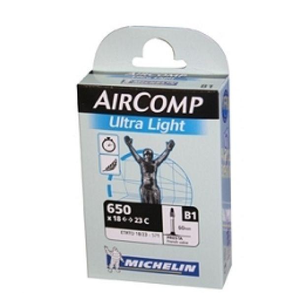 Chambre à air Michelin 650 x 18/23C AirComp Ultra Light B1 Presta 60 mm