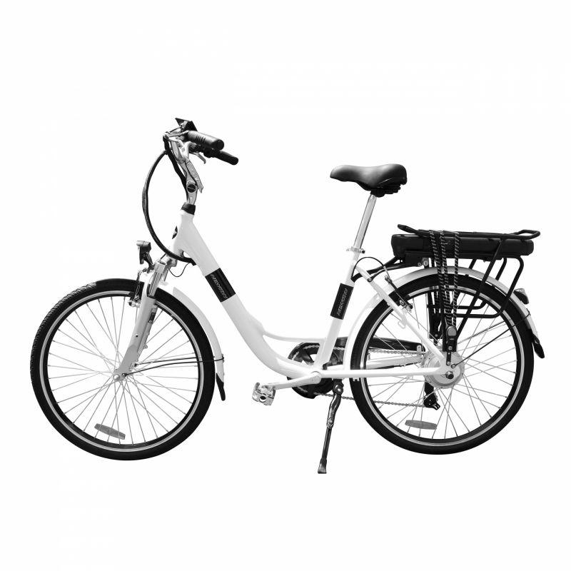 """Vélo électrique ville Newton Alu 26"""" Mixte 6V 36V/468 Wh Blanc nacré - 1"""