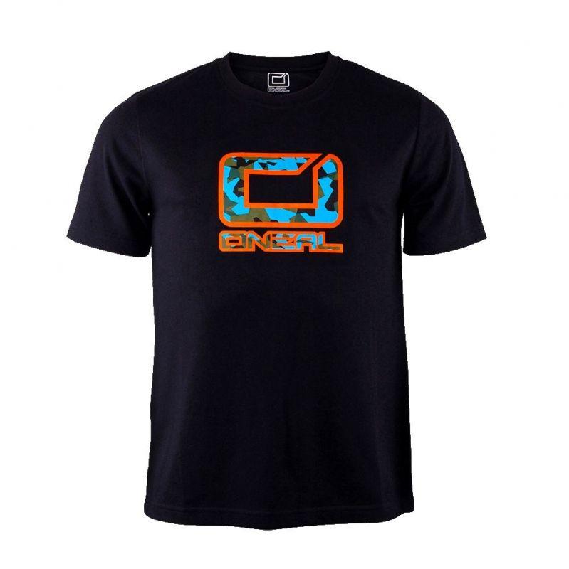 T-shirt O'Neal Slickrock Noir/Orange - 1