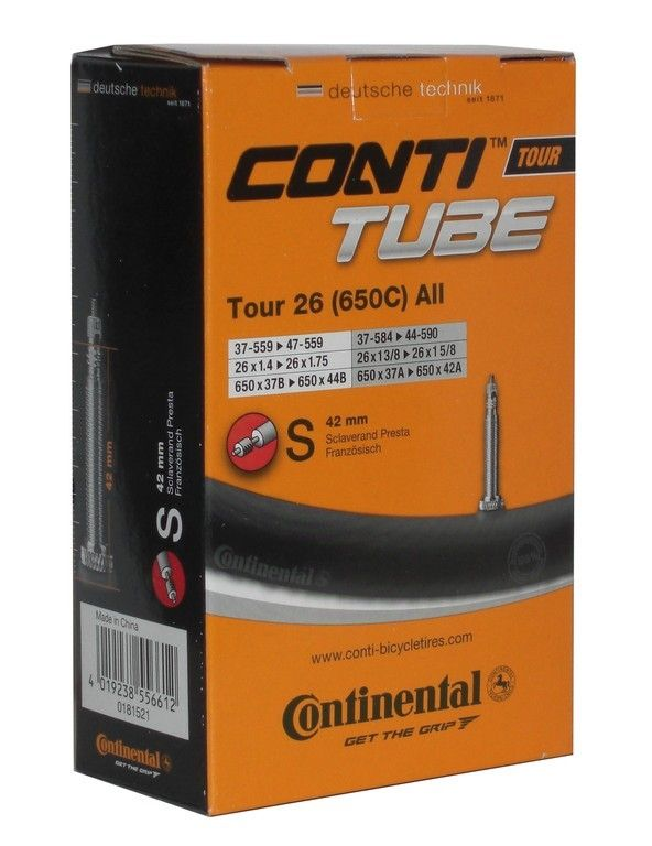 Chambre à air Continental Tour 650 x 28/35B 26 x 1.1/8-1.75 Presta 42 mm