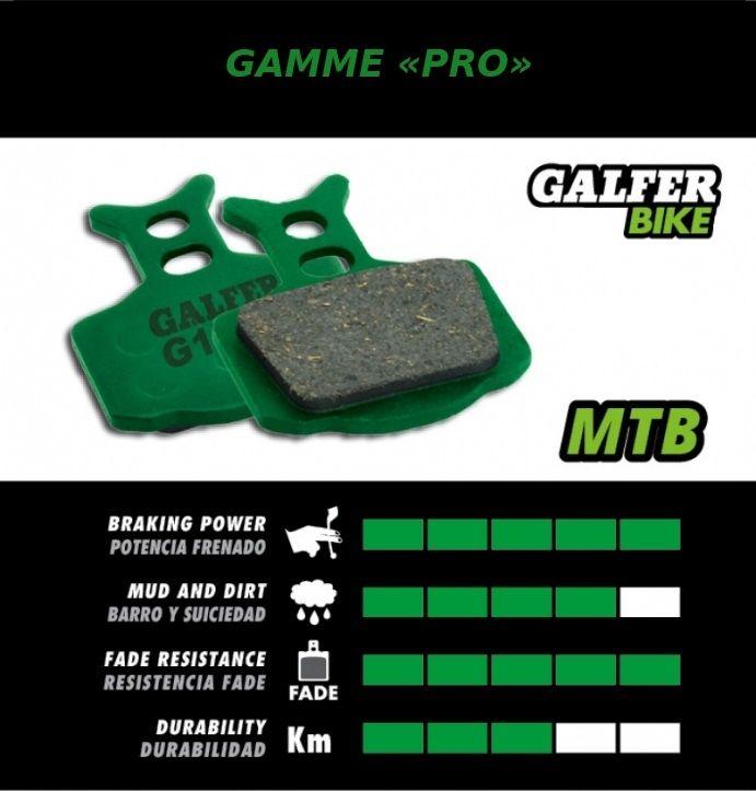 Plaquettes de frein Galfer Hope X2 Semi-métallique Pro Vert - 1