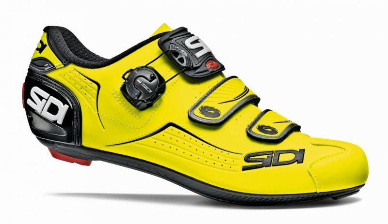 chaussures sidi alba jaune fluo sur ultime bike. Black Bedroom Furniture Sets. Home Design Ideas