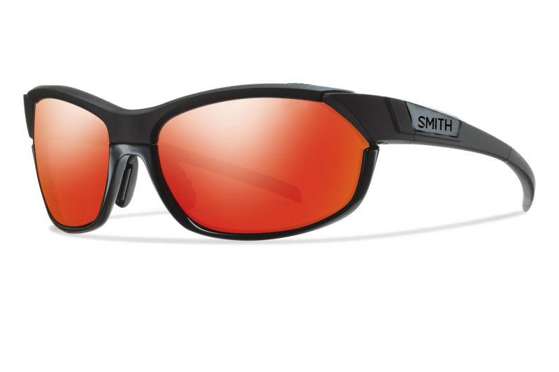 Lunettes Smith Optics PivLock Overdrive Noir brillant/Rouge Sol-X