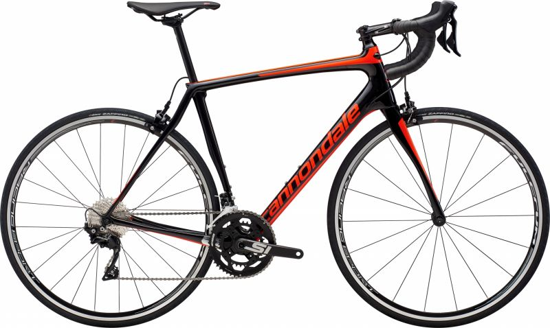 Vélo route Cannondale Synapse Carbon 105 Noir/Rouge Acid