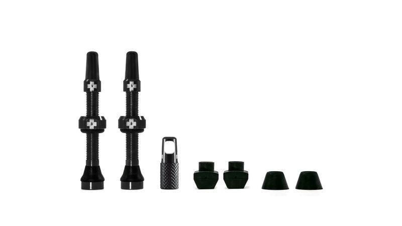Kit de valves tubeless Muc-Off 44 mm Noir (Paire)