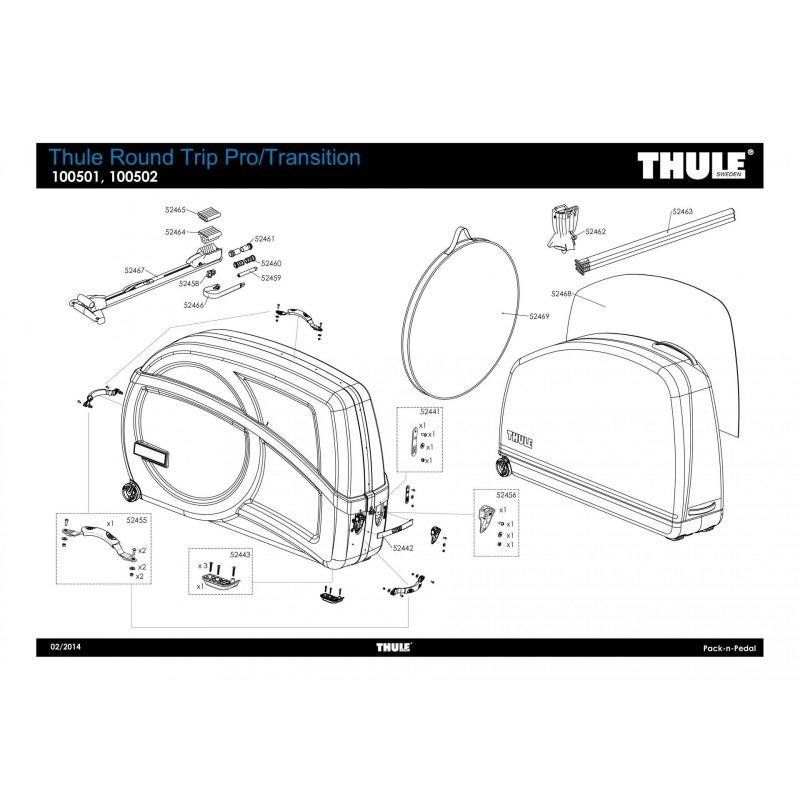 Adaptateur de fourche traditionnelle Thule RoundTrip Pro - 52459