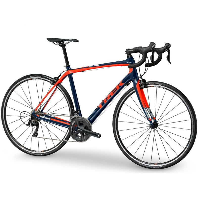 Vélo route Trek Domane S 5 Bleu/Orange 2017 - 1