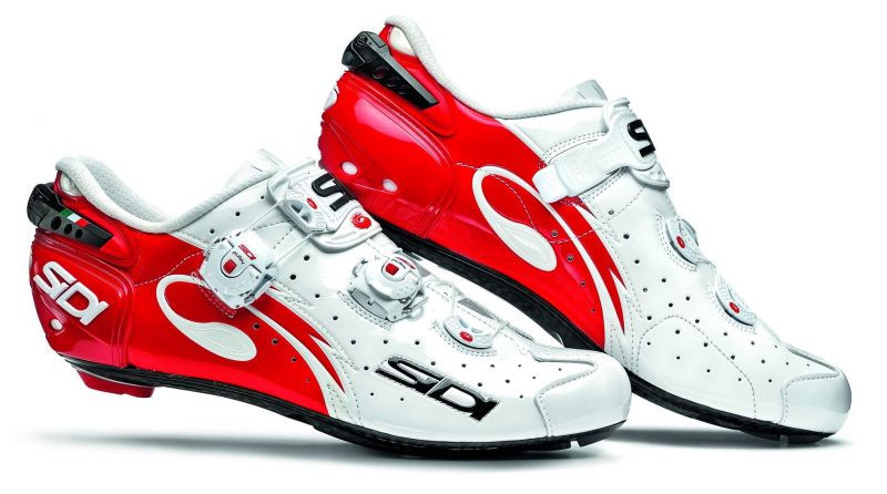 Chaussures Sidi WIRE Carbon Vernice Rouge/Blanc verni