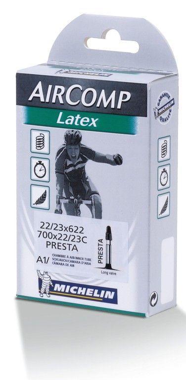 Chambre à air Michelin 700 x 18/20C Air Comp Latex A1 Presta 36 mm