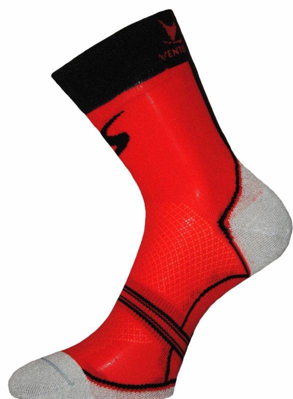 Chaussettes Ventura Socks Carbone Classic Rouge/Noir