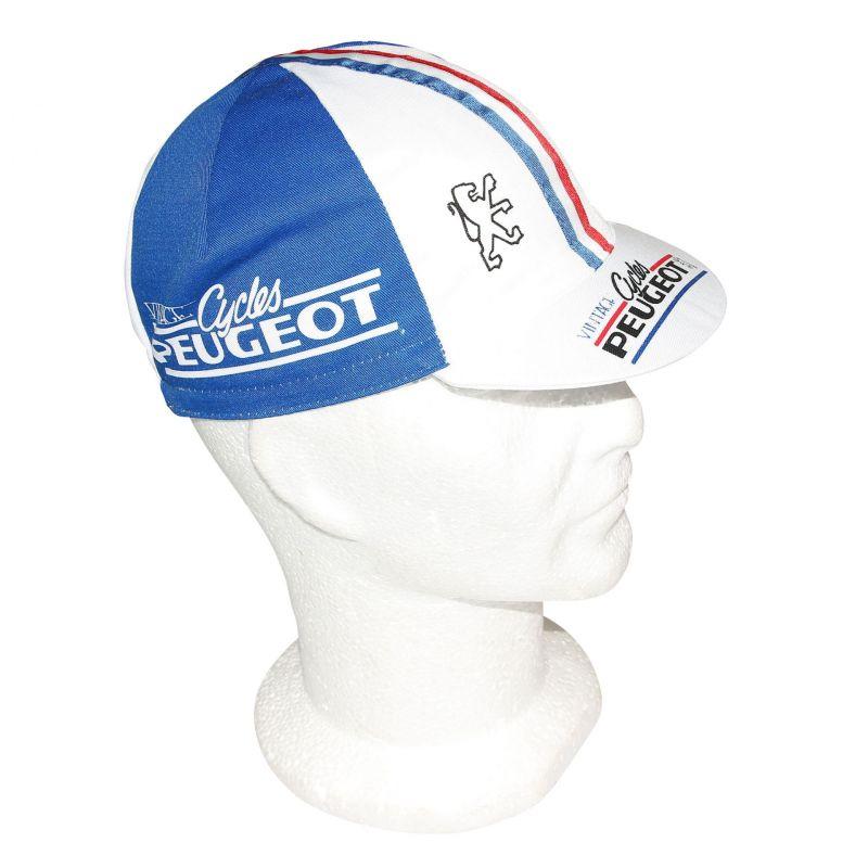 beaucoup à la mode bas prix date de sortie: Casquette Equipe Vintage Peugeot Cycles Bleu/Blanc/Rouge