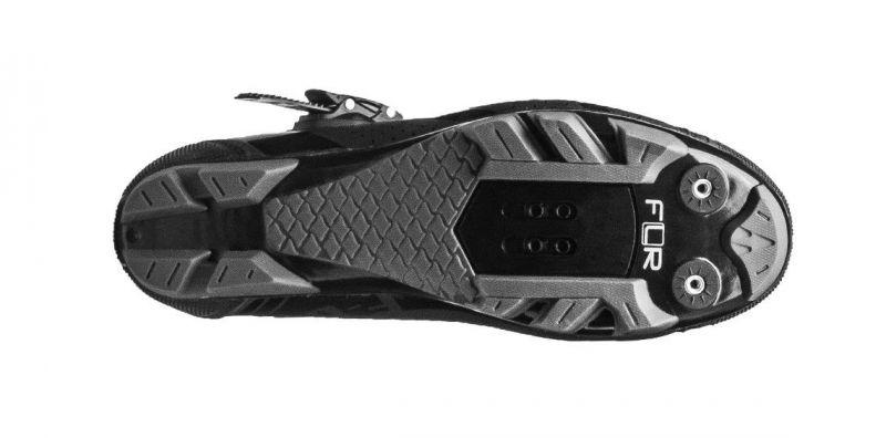 Chaussures VTT FLR Elite F-65 Clic + 2 Bandes auto agrippantes Noir - 1