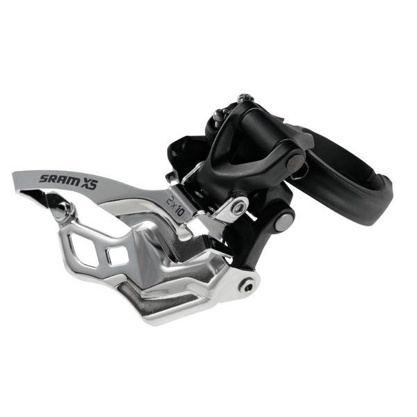 Dérailleur avant SRAM X5 2x10 Collier haut 31,8/34,9 Top Pull Noir