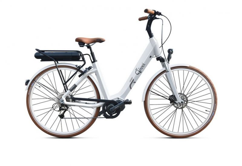 Vélo électrique O2Feel Swan Deore 9V / 28 pouces Blanc