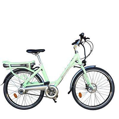 """Vélo électrique Starway Easy 26"""" Vert d'eau"""