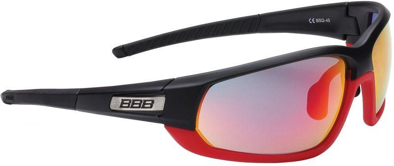 Lunettes BBB Adapt Fullframe verres rouges Noir mat/Rouge - BSG-45