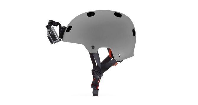 fixation frontale pour casque gopro sur ultime bike. Black Bedroom Furniture Sets. Home Design Ideas