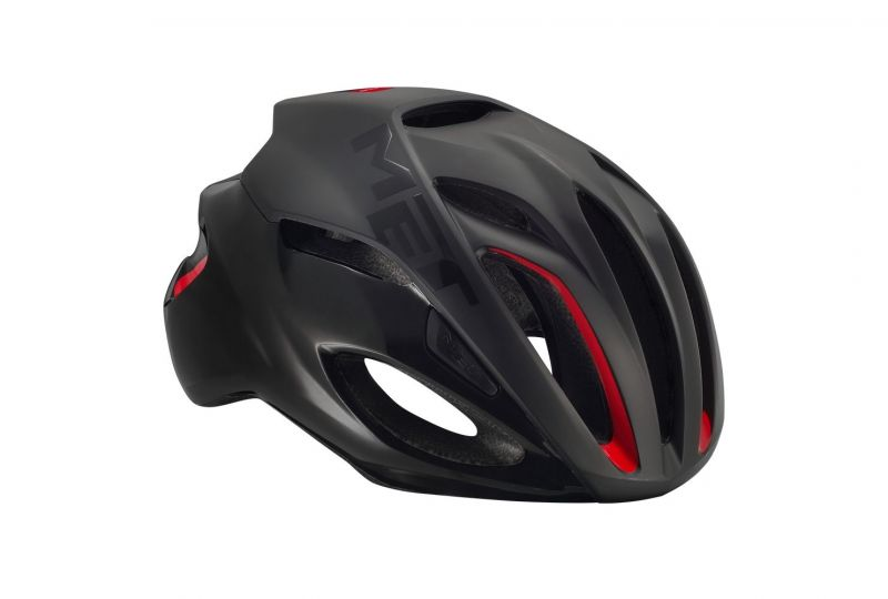casque met rivale noir mat rouge sur ultime bike. Black Bedroom Furniture Sets. Home Design Ideas