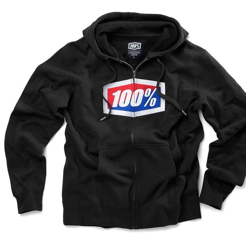 Veste zip 100% Official Noir