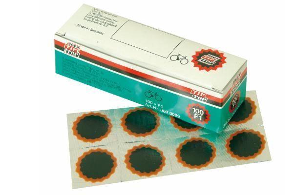 Boîte de 100 rustines Tip Top F1 rondes 25 mm