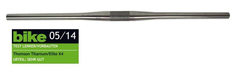 Cintre droit VTT Thomson titane 31,8 / 730 mm 12D
