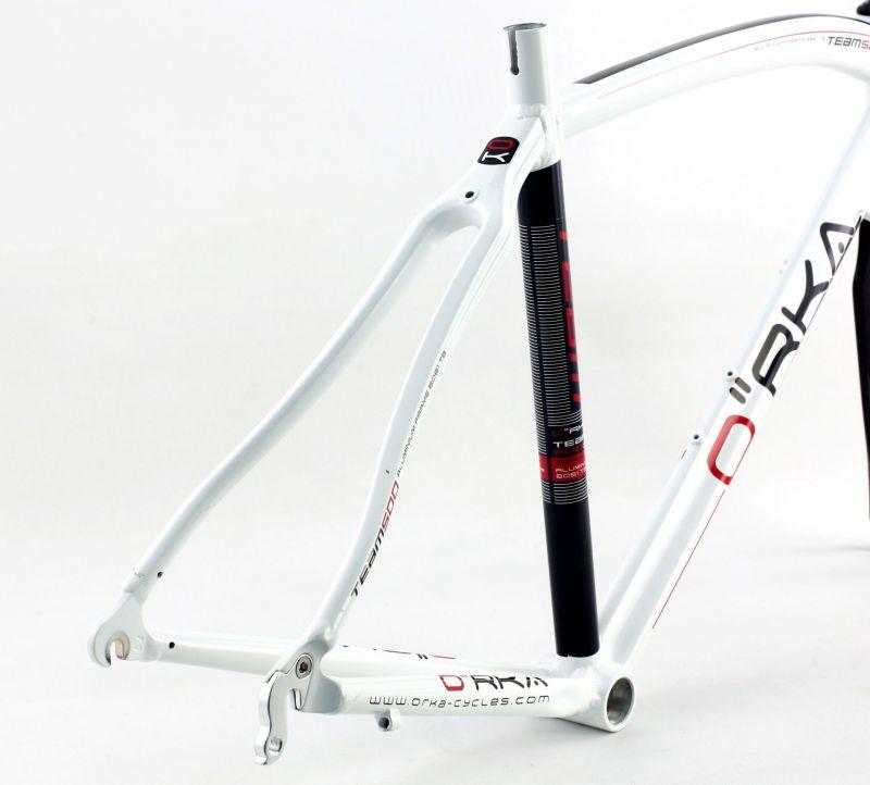 Cadre de route Orka Team 500 Aluminium Blanc (Sans fourche) - 2