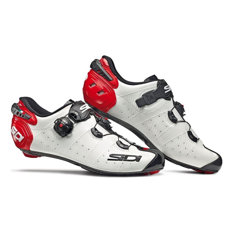 Chaussures Route Sidi Wire 2 Carbon Blanc/Noir/Rouge