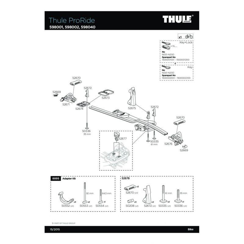 Vis Thule M6x35mm - 50336 - 6
