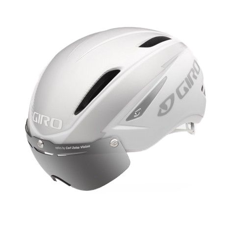 Casque Route Giro Air ATTACK Shield Blanc mat/Argent