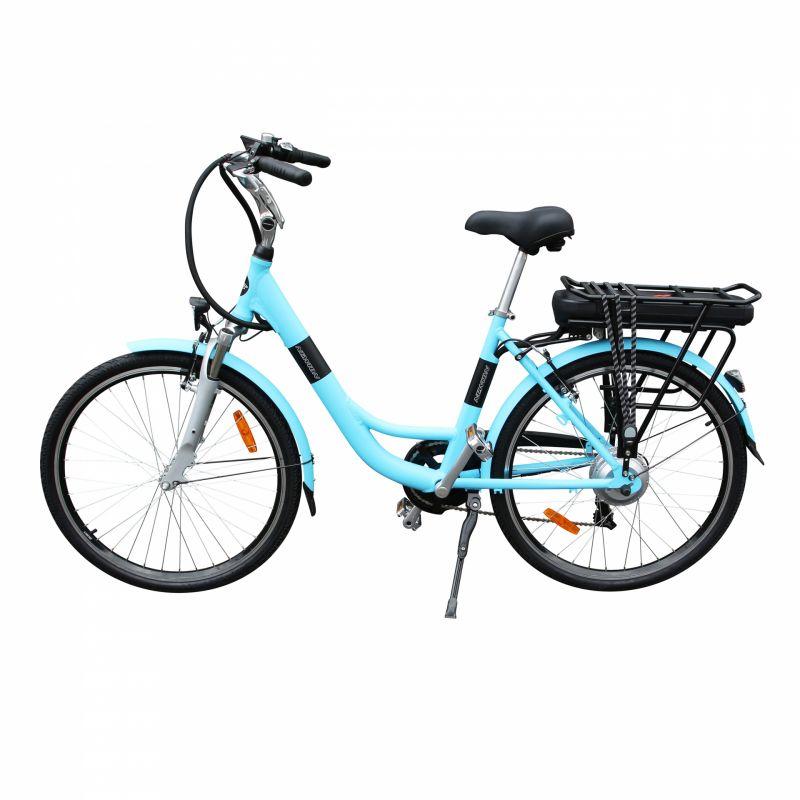"""Vélo électrique ville Newton Alu 26"""" Mixte 6V 36V/468 Wh Bleu - 1"""