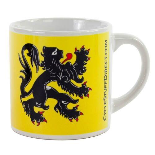 Tasse à café Lion des Flandres Jaune
