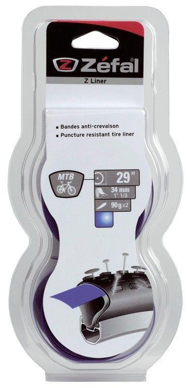 "Bande anticrevaison Zefal Z-Liner VTT 27.5/29"" 34 mm (Paire) Bleu"