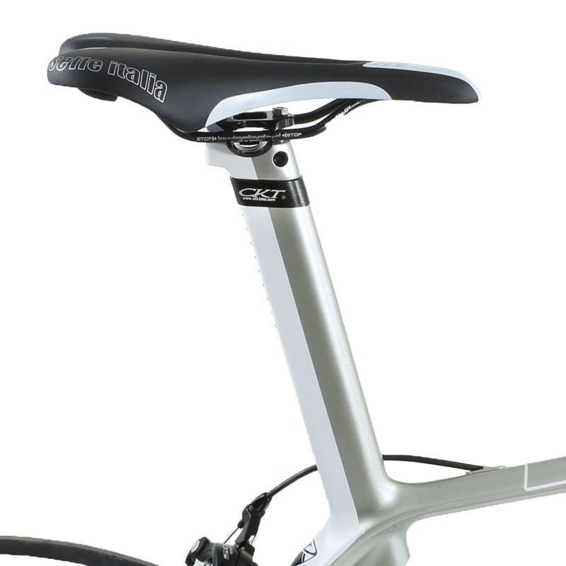 Vélo de route CKT by Virenque 799 carbone Shimano 105 Blanc / Argent (Taille M / 54) - 1