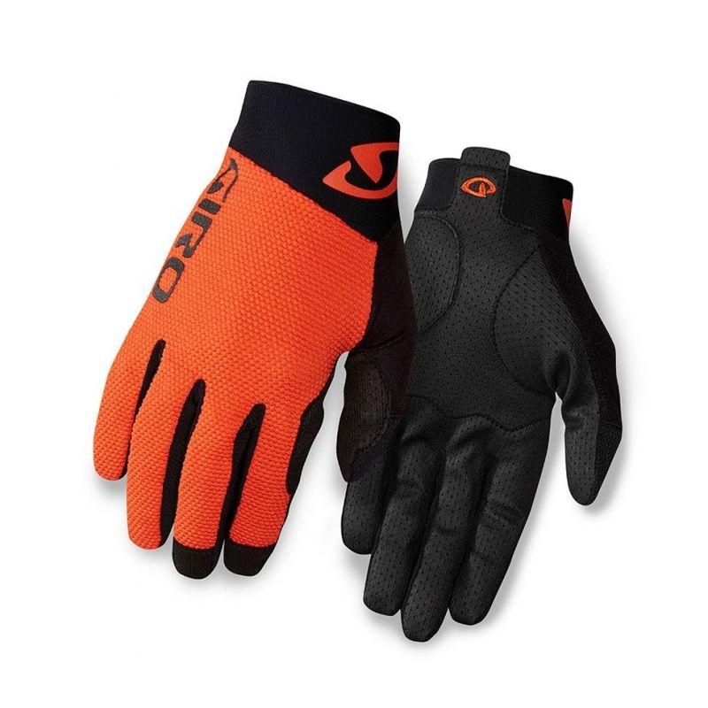 gants vtt giro rivet ii orange noir sur ultime bike. Black Bedroom Furniture Sets. Home Design Ideas