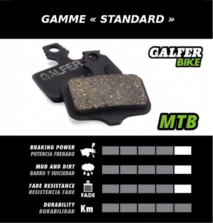 Plaquettes de frein Galfer Avid BB5 Semi-métallique Standard Noir - 1