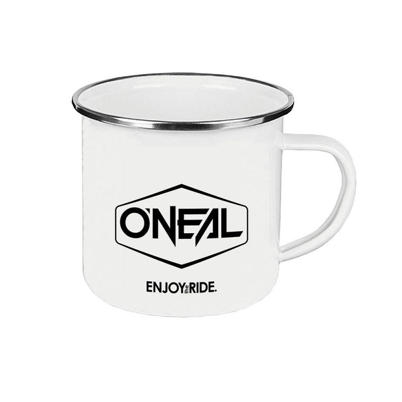 Tasse en émail O'Neal Blanche