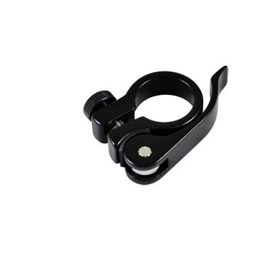 Collier de tige de selle Optimiz BMX Alu à serrage rapide 25,4 mm Noir