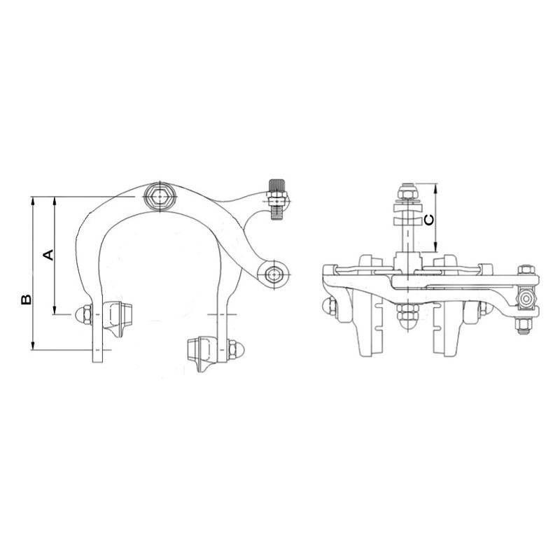Étrier de frein Saccon caliper Alu Argent (Paire) - 2